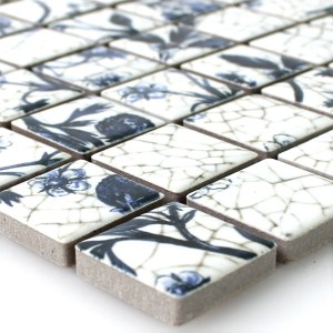 Mosaico Ceramica Strawberry Bianco Blu