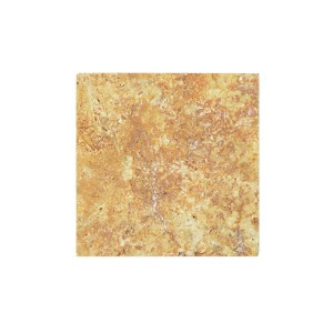 Pietra Naturale Piastrelle Travertin Castello Gold 10x10cm