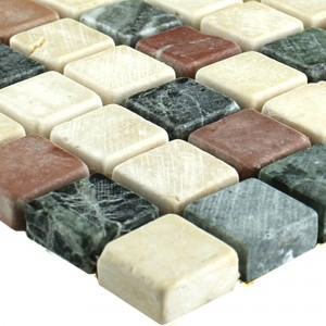 Mosaico Marmo Colorato Mix 15x15x7mm